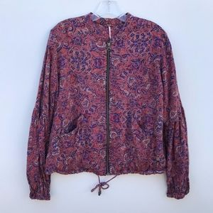 Free People Full Zip Puffer Sleeve Jacket #1160